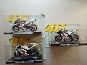 Lot de 3 motos Collection 46 Valentino rossi  Altaya   3 Yamaha yzr m1  neuf