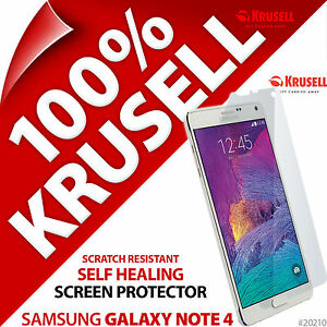 New Krusell Self Healing Screen Protector Guard Film For Samsung Galaxy Note 4