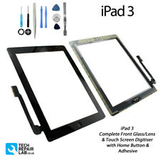 NEW iPad 3 Complete Front Glass/Digitiser Touch Screen Assembly with Tools BLACK
