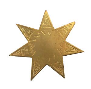 Star with 7 Points Gilded Symbol For Orange Order Collarette
