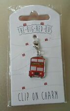 EuroStick The Big Red Bus Clip On Charm London England