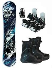 155cm WIDE Airtracks Jungle Rocker Snowboard+Symb Bindings+Boots 3pc Package