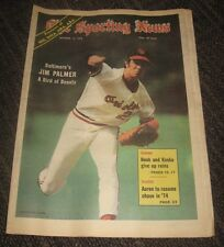 1973 Jim Palmer The Sporting News Magazine - Baltimore Orioles No Label HOF