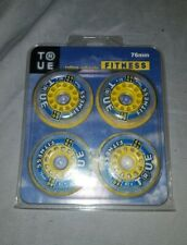 INLINE SKATE WHEELS 76mm 82A - (PACK OF 4) True Fitness CLEAR Wheel