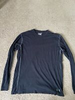 Under Armour Mens Crew Neck Long Sleeve T Shirt Size Large Loose Black HeatGear