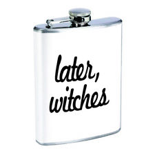 Llamas D2 Flask 8oz Stainless Steel Hip Drinking Whiskey