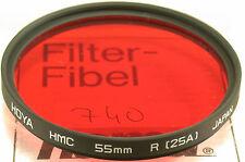 Original hoya rojo red filtro lens photo foto película 55mm 55 e55 (740 (4)