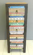 Cassettiera camera ragazzi metro industriale vintage colorata cassettone