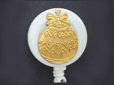 CHRISTMAS TREE ORNAMENT Retractable ID Badge Reel Key Card Holder Ring Chain