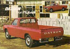Datsun Nissan 1500 1 Ton Pick-Up 1976-77 UK Market Leaflet Sales Brochure