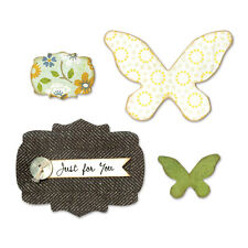 Sizzix Bigz Die - Butterflies & Labels Rrp33.50