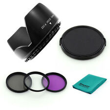 82 PETAL LENS HOOD + CPL UV FLD Filters + CAP for Sigma 24-70mm f/2.8 CAMERA,NEW