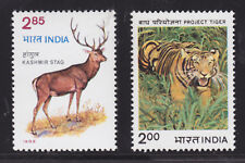 India Sc 988/1038 MNH. 1982-83 issues, 2 Animal Sets