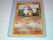 Pokemon Growlithe Base Card original 28/102 - Toploader protected