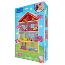 Peppa Wutz Familienhaus II Set Peppa Pig Spielset Kinder Spielzeug Zubehör