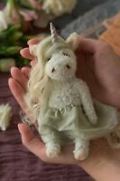 Teddy Handmade Interior Toy Collectable Gift Animal Doll OOAK Unicorn Fairy