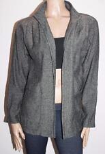 Millers Brand Black White Tweed Long Sleeve Open Jacket Size 10/S BNWT #JA109