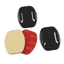 2pcs Adhesive Pads Flat Helmet Mounts 3M GoPro HD Camera Hero 3 3+ 4 5 - UK P&P