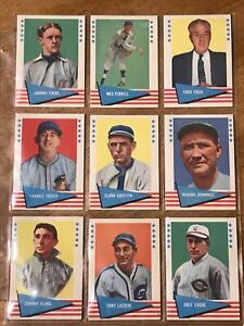 1961 Feer Baseball NM Lot Of 27 with high numbers