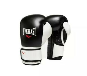 EVERLAST ADVANCED TRAINING BOXING WORKOUT GLOVES 16 OUNCES 180 LBS BLACK