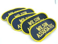 VTG Wilson Associates Navy Blue & Yellow Unused Embroidered Patch