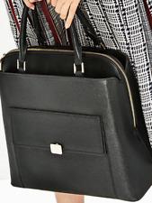 Zara Bloggers favourite Genuine OFFICE CITY BAG BNWT BLACK