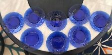 8 Vintage Royal Blue Sapphire 8 Inch Salad Plates by Avon Cobalt blue