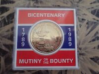 1789 - 1989 BICENTENARY CASED MEDAL - MUTINY ON THE BOUNTY (3)