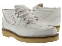 Mens White Genuine Crocodile Ostrich Skin Sneaker Shoes Boots Western Cowboy
