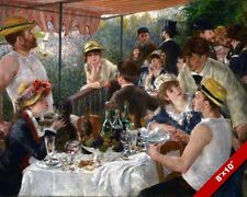 LUNCHEON OF THE BOATING PARTY AUGUSTE RENOIR PAINTING ART REAL CANVAS PRINT