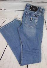 NEW Miss Me Women's Simple Flap Pocket Loose Saddle Stitch Jeans Light Blue $89