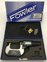 """Fowler 52-244-301-1 Digit Counter Ball-Anvil /& Spindle Micrometer 0-1/"""" Measurin"""