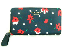 NWT KATE SPADE NEW YORK CHELSEA WHIMSY FLORAL LG CONTINENTAL WALLET WLR00625