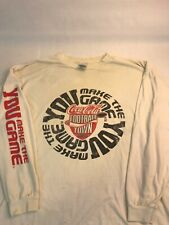 Vtg Coca Cola Football Town T-Shirt Men's Xl Long Sleeve Usa Coke