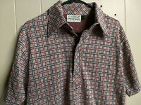 Arnold Palmer / Robert Bruce MADE IN USA Large Knit Polyester Polo Shirt