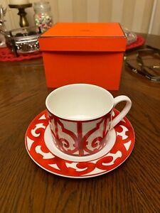 Vajilla Taza Blanca Roja Hermes Lujo cerámica occidental para decoracion cafe te