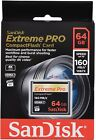 SanDisk 64GB Extreme PRO CompactFlash 160MBs Memory Card Camera SDCFXPS-064G-X46