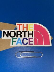 "North Face Sticker- Rainbow, Snowboard, Mug, Laptop 3.5""x2"" Mint-no Bends. New!!"