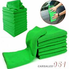 10Pcs Microfiber Absorbent Wash 25*25CM Cleaning Polish Towel Cloth Motor NEW