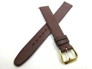 Apollo Burgundy Calf Grain Leather 16mm Watch Strap Gold Tone Buckle