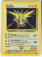Zapdos - Base Set - 16/102 - Holo-foil Rare - Pokemon Card - (LP) Light Play
