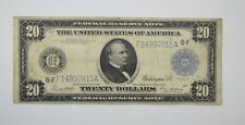 1914 $20 Blue Seal Federal Reserve of Atlanta Large Size Note - Fr. 987a *3498