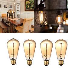 Vintage E27 60W 110V light Golden Retro Old Fashioned Edison Tungsten Bulb 4PCS