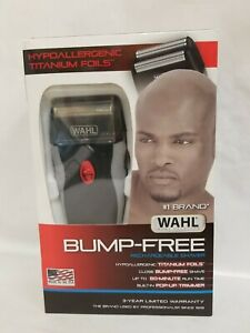 Wahl 7339-300 Bump Free Foil Shaver - Rechargeable with Titanium Cutters