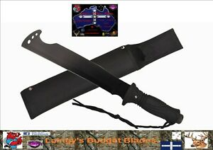 Hunting Cleaver with Basic Survival Kit in Handle, Nylon Sheath Included
