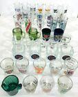 Shot+Glass+Assortment+Tall+and+Regular+Size+Sports%2C+Hard+Rock%2C+Misc.+Lot+of+37