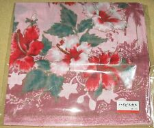 Okinawan Hibiscus Souvenir *Pink Handkerchief /KANBOJI-12