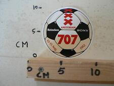 STICKER,DECAL AMSTERDAM 707 OLYMPISCH STADION VOETL,SOCCER 1982 SONY HEINEKEN A