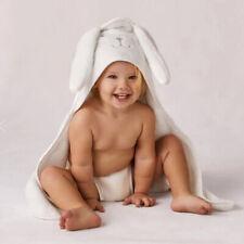 BAXTAR BABY TOWEL Robe Bunny MITT SET  0-3yrs White Cotton SHERIDAN ®, RRP:69.95
