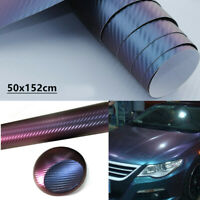 3D Carbon Fiber Look Vinyl Car Wrap Sheet Roll Film Sticker Decal Paper 50x152cm